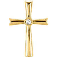 Item # S85743 - 14K Yellow Gold Diamond Cross