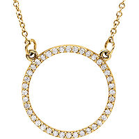 Item # S89833 - 14K Yellow Gold Circle Pendant