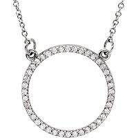 Item # S89833W - 14K White Gold Circle Pendant