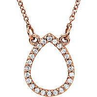 Item # S91543R - 14K Rose Gold Tear Drop Pendant