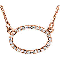 Item # S91545R - 14K Rose Gold Oval Pendant