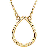 Item # S91546 - 14K Yellow Gold Teardrop Pendant