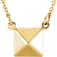 Item # S91553 - 14K Yellow Gold Pyramid Pendant