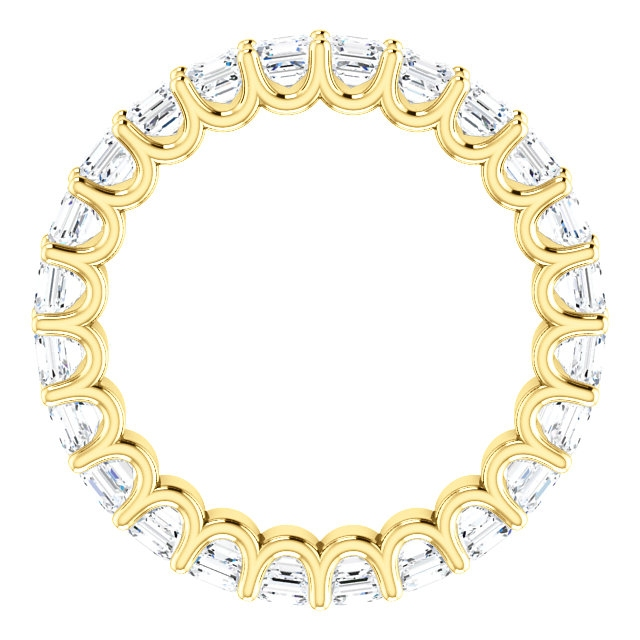 Item # SA128869240E View 2 - 18K Gold Eternal-Love Eternity Band. 2.40ct