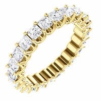 Item # SA128869240E - 18K Gold Eternal-Love Eternity Band. 2.40ct