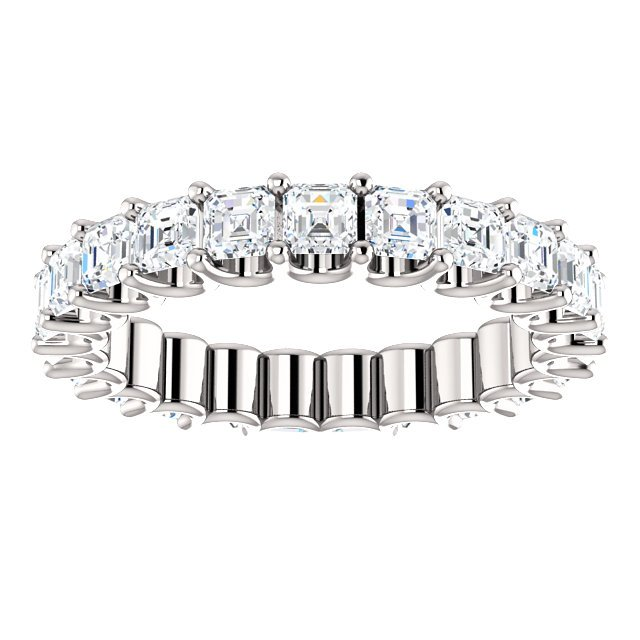 Item # SA128869240W View 3 - Eternal-Love Eternity Band. 14K White Gold. 2.40CT