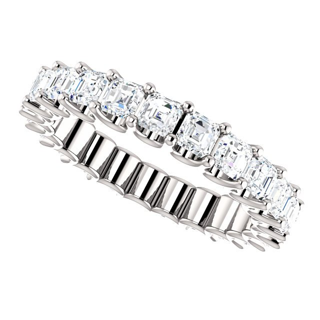 Item # SA128869240W View 5 - Eternal-Love Eternity Band. 14K White Gold. 2.40CT