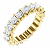 Item # SA128869340E - Eternal-Love Eternity Band. 18K Gold. 3.40CT