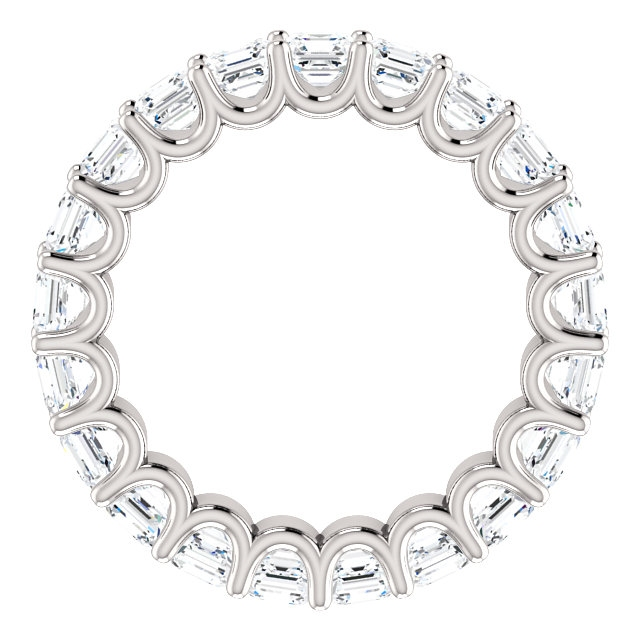 Item # SA128869340PP View 2 - Platinum Eternal-Love Eternity Band. 3.40CT