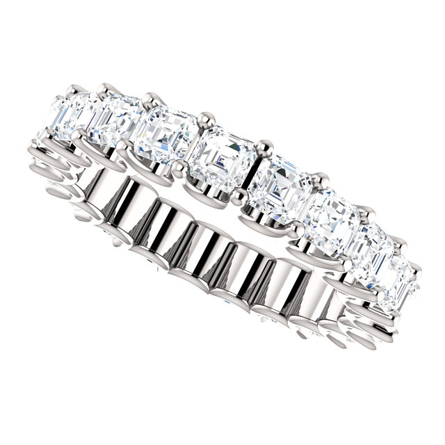 Item # SA128869340PP View 5 - Platinum Eternal-Love Eternity Band. 3.40CT