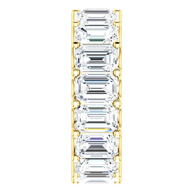 Item # SE128869850E View 4 - 18K Gold Eternal-Love Eternity Band. 8.5CT
