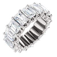 Item # SE128869850PP - Platinum Emerald Cut Diamond Eternity Band