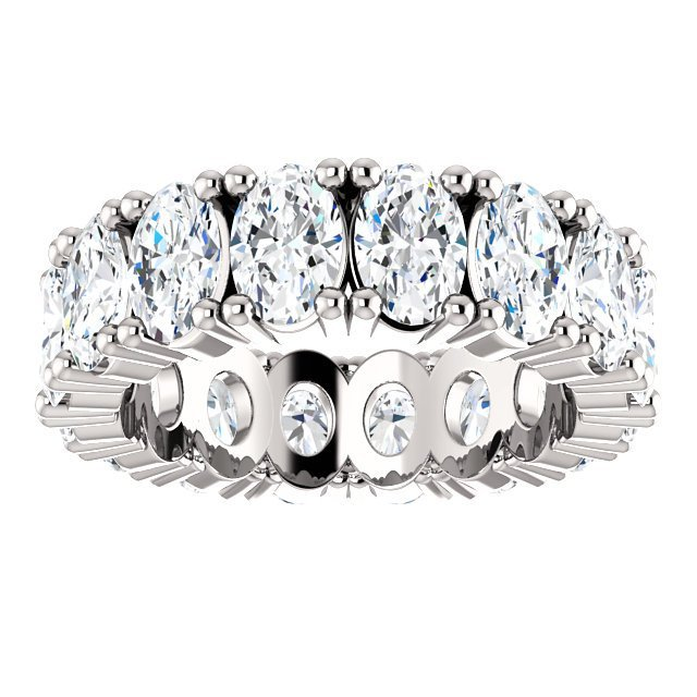 Item # SO127785WE View 2 - Diamond Eternity Band Oval