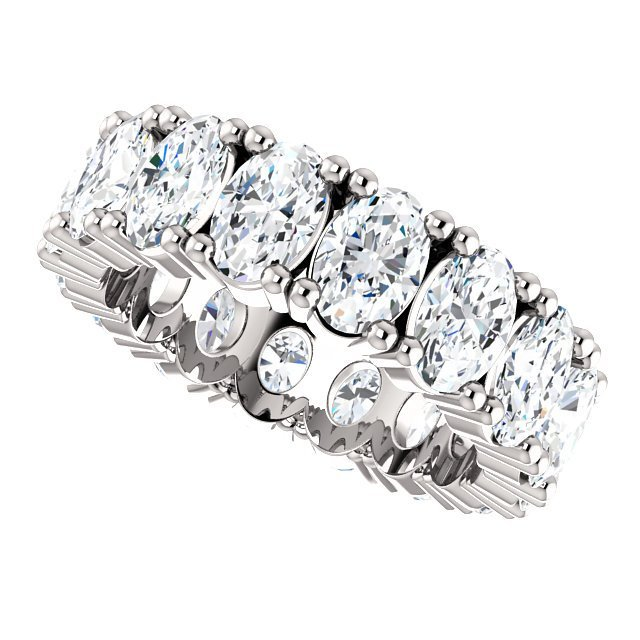 Item # SO127785WE View 3 - Diamond Eternity Band Oval