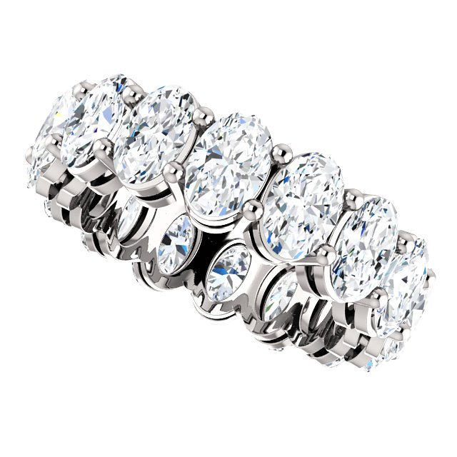 Item # SO127785WE View 4 - Diamond Eternity Band Oval