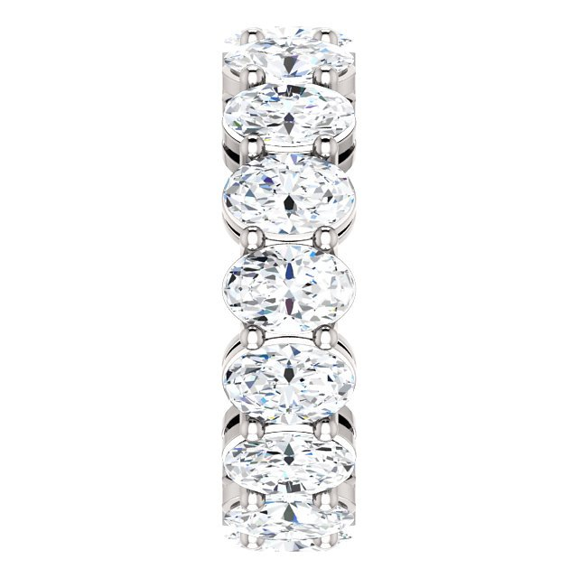 Item # SO127785WE View 5 - Diamond Eternity Band Oval
