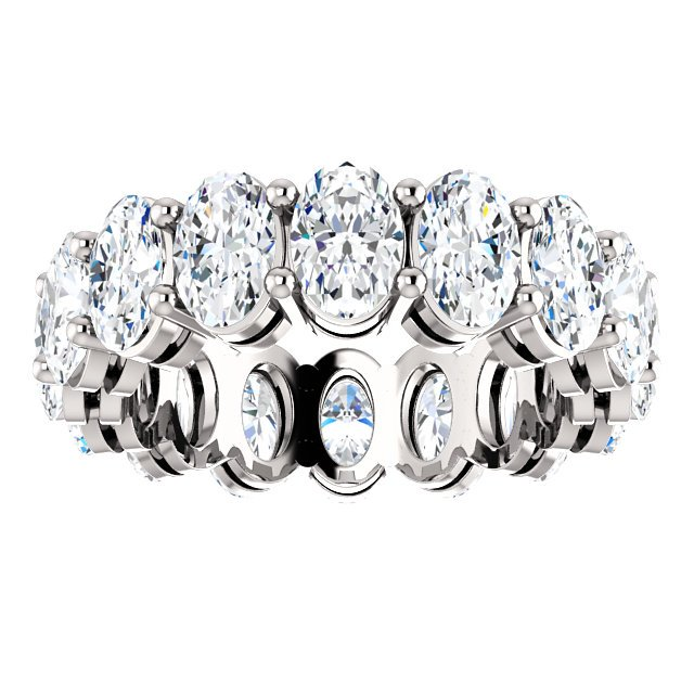 Item # SO128658WE View 3 - 18K White Gold Diamond Eternity Band