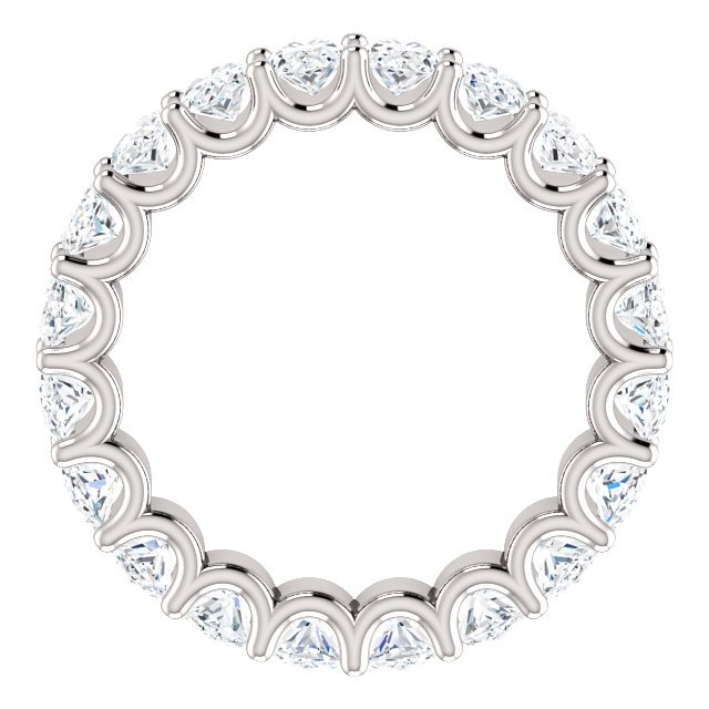 Item # SO128869400PP View 2 - Platinum Oval Shape Diamond Eternity Band