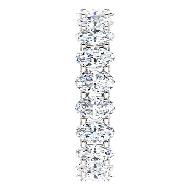 Item # SO128869400PP View 4 - Platinum Oval Shape Diamond Eternity Band