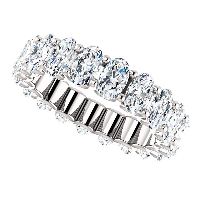 Item # SO128869400PP View 5 - Platinum Oval Shape Diamond Eternity Band