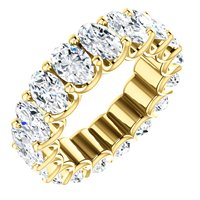 Item # SO128869700E - 18K Oval Diamond Eternity Band