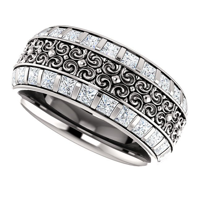 Item # SP128079W View 5 - Diamond Eternity Band