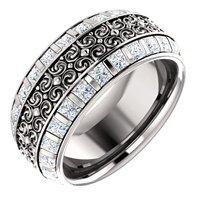 Item # SP128079W - Diamond Eternity Band