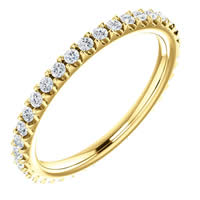 Item # SR127714038 - 14K Diamond Wedding Band