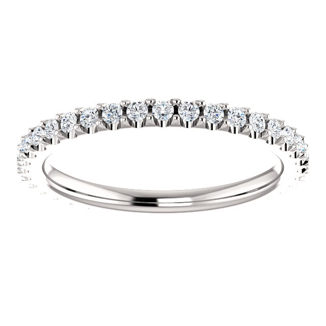 Item # SR127714038W View 3 - White Gold Eternity Band