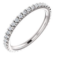 Item # SR127714038W - 14K White Gold Eternity Band