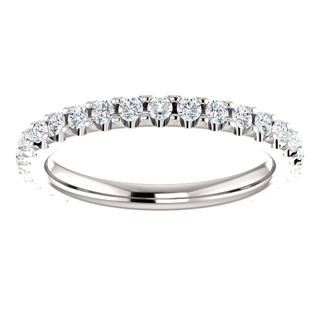 Item # SR127714050PP View 3 - Platinum Diamond Eternity Band