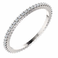 Item # SR127785025PP - Platinum Diamond Eternity Band 0.25CT