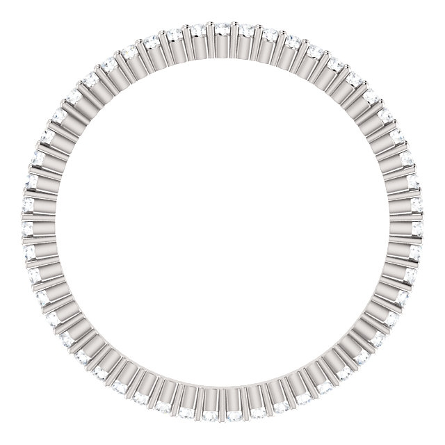 Item # SR127785025WE View 2 - 18K Diamond Eternity Band 18K White Gold