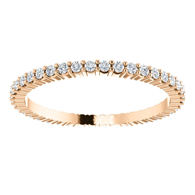 Item # SR127785038RE View 3 - 18K Rose Gold Eternity Band