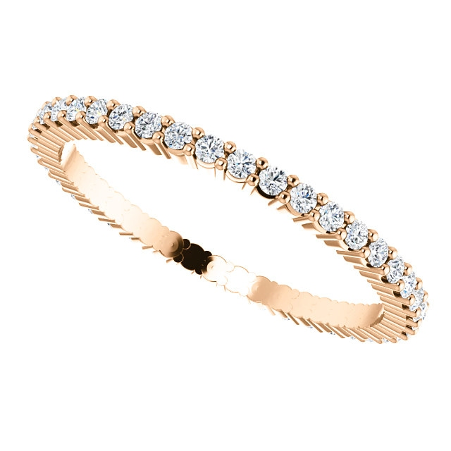 Item # SR127785038RE View 5 - 18K Rose Gold Eternity Band