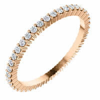 Item # SR127785038R - 18K Rose Gold Eternity Band