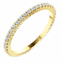 Item # SR127785038 - 14K Diamond Eternity Band