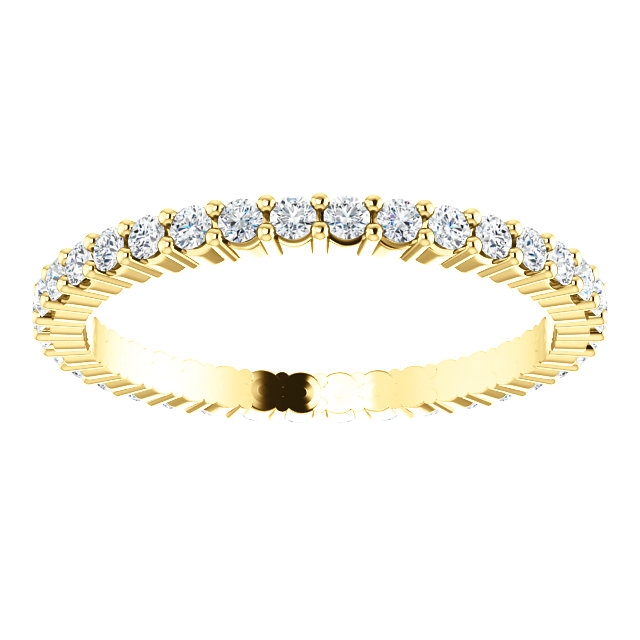 Item # SR127785050 View 3 - Shared Prongs Eternity Band