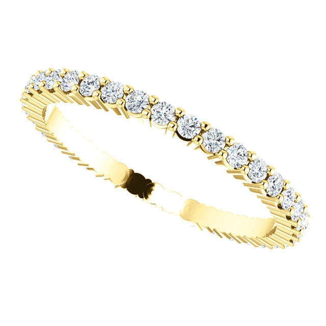 Item # SR127785050 View 5 - Shared Prongs Eternity Band