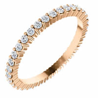 Item # SR127785050R - Rose Gold Eternity Band 0.50CT
