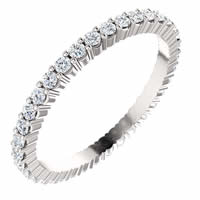 Item # SR127785050WE - 18K White Gold Eternity Band