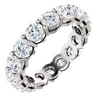 Item # SR127785WE - 18K Diamond Eternity Ring