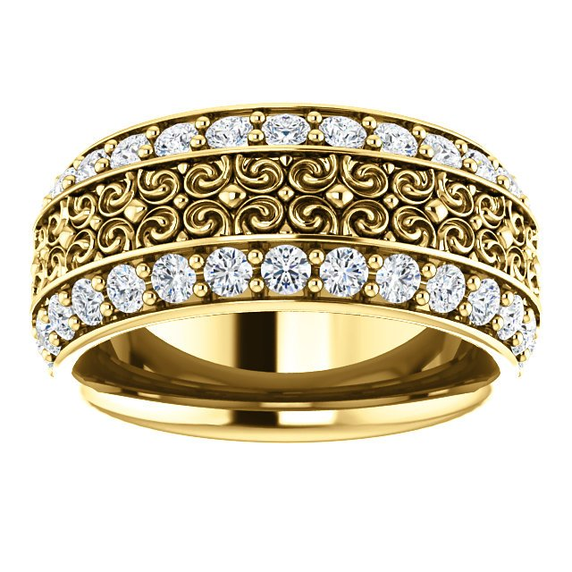 Item # SR128079 View 4 - Platinum Eternity Band