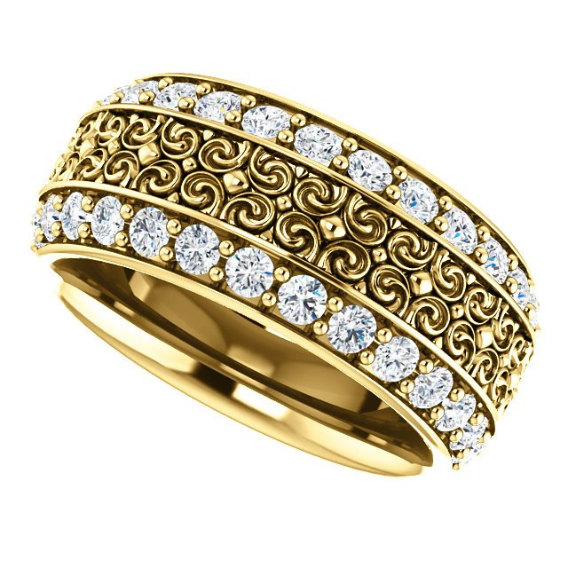 Item # SR128079 View 5 - Platinum Eternity Band
