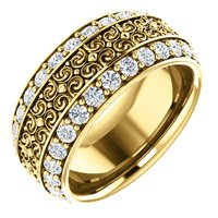 Item # SR128079 - Platinum Eternity Band