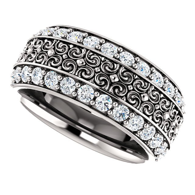 Item # SR128079WE View 2 - 18K Eternity Band