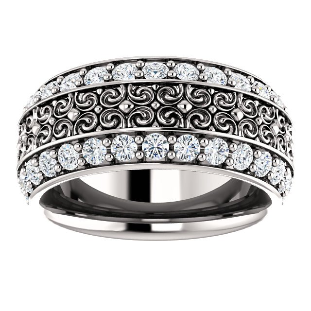 Item # SR128079WE View 4 - 18K Eternity Band