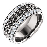 Item # SR128079W - 14K Diamond Eternity Band