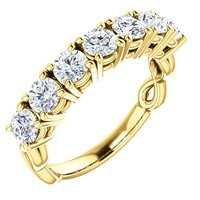 Item # SR128541E - 7 Diamonds 18K Anniversary Band