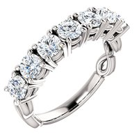 Item # SR128541WE - 7 Diamonds 18K Anniversary Band